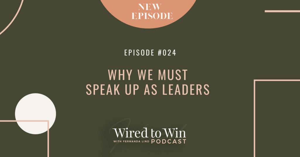 Why we must speak up as leaders - Illustration